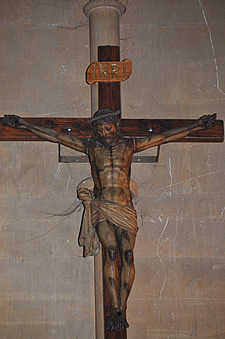 The Crucifix in the Catholic Church of Our Lady and St Mary Magdalen in Tavistock
